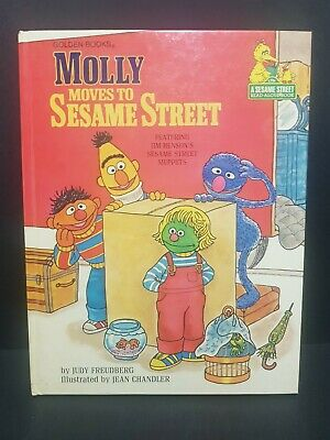 VINTAGE HC Molly Moves to Sesame Street  1980 Jim Henson Muppet -by Golden Books
