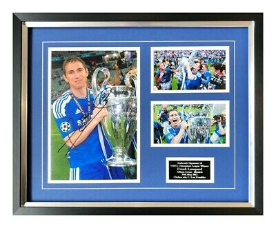 Frank Lampard Chelsea Hand Signed Framed Photograph Display Authentic + Coa