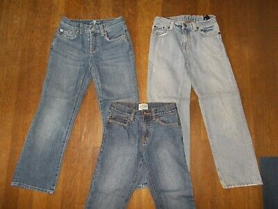 Boys Jeans Lot sz 7 - 3 Pairs Seven for All Mankind, TCP, Ralph Lauren All MINT