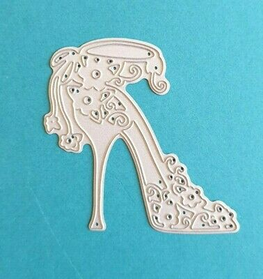Tattered Lace Dies TREAT YOURSELF Shoe High Heel Metal Cutting Die TLD0211