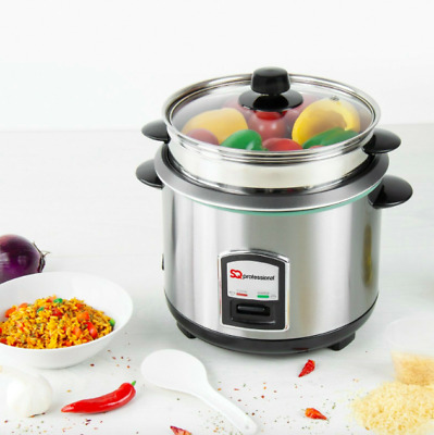 SQ Professional stainless steel Lustro 1.8L rice cooker 700W