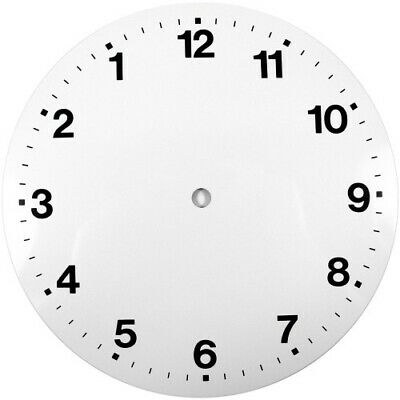 White Reverse Printed Clock Dial 9 inches 230mm Arabic Figures Clocks - CD39