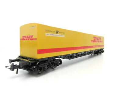 (LS373) Roco Memo DC H0 Exclusivserie Containertragwagen DHL OVP
