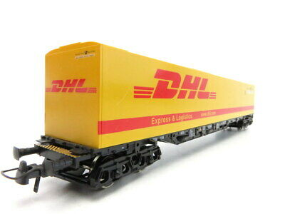 (LS372) Roco Memo DC H0 Exclusivserie Containertragwagen DHL OVP