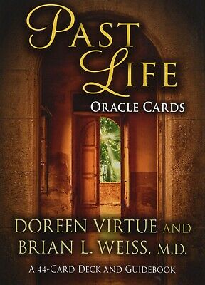 Past Life Oracle Cards Doreen Virtue Oracle Card Series 44cards w/JP Guidebook
