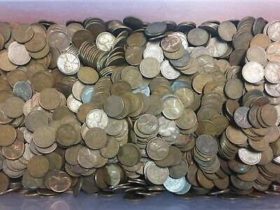 10,000 Unsearched Wheat Pennies From Auction In Ohio