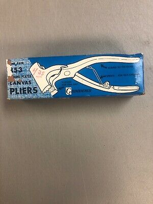 Grumbacher Canvas Pliers 853 Chrome Plated toothed