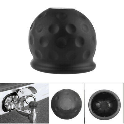 50mm Black Rubber Tow Ball Bar Towing Protect Towball Cap Cover NEW IFF