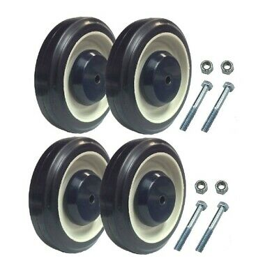 Set of 4 Shopping Cart Replacement Wheels with Axles