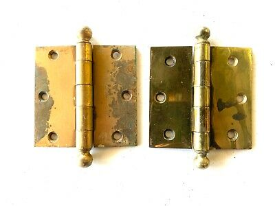 """Antique 3 1/2"""" Cannon Ball Door Hinges Set of 2 DH153"""