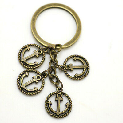 Retro Boat Ship Anchor Keychain Key Ring titanic bismark nautical accesorie