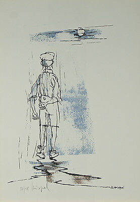 """""""The Artist"""" by Knispel Gershon Signed Limited Edition of 125 Lithograph Print"""