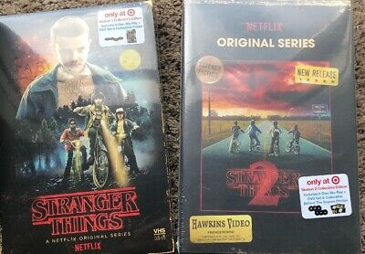 Stranger Things Season 1 & 2 Collector's Edition: (Blu-ray + DVD) VHS Case Set