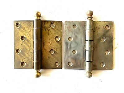 """Antique 4"""" Cannon Ball Door Hinges Set of 2 DH159"""