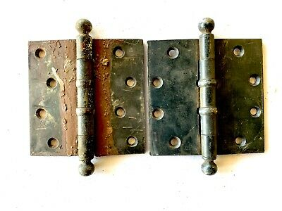 """Antique 4 1/2"""" Cannon Ball Door Hinges Set of 2 DH160"""