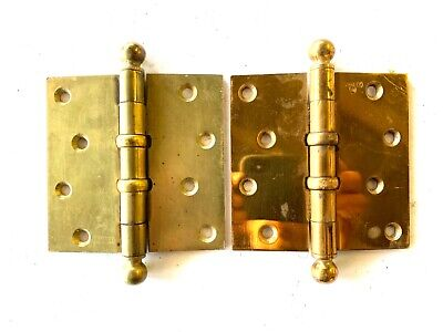 """Antique 4 1/2"""" Cannon Ball Door Hinges Set of 2 DH161"""