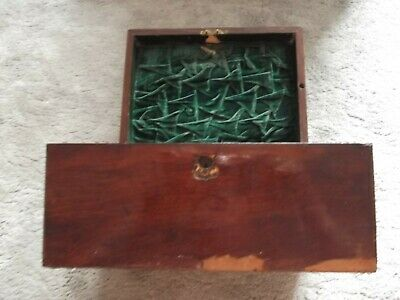 Antique or Vintage Dark Wood Writing Slope with Drawer - needs some TLC (B120)