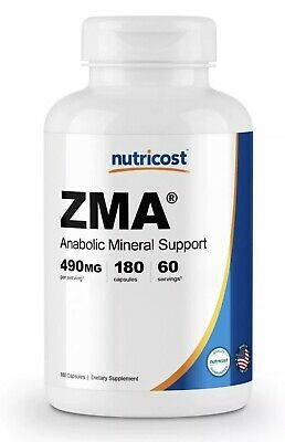 Nutricost ZMA 490mg, 180 Capsules - Gluten Free, Non-GMO, High Quality
