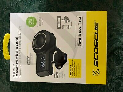 Scosche FM Transmitter w/Music Control for use with iPhone - New in Box
