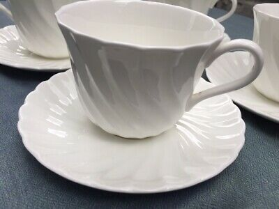 Vintage Wedgwood Candlelight bone china 4 cups and saucers