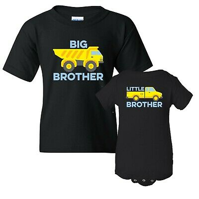 Big Brother Little Brother Truck - Youth T Shirt & Infant Creeper Bundle