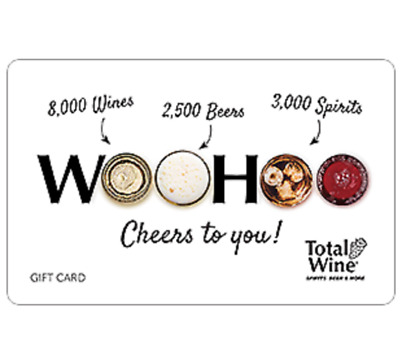 Total Wine & More $25 $50 or $100 - Email delivery
