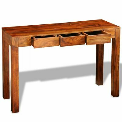 vidaXL Solid Sheesham Wood Console Table with 3 Drawers 80cm Display Desk
