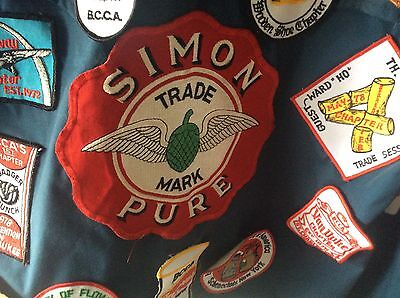 Vintage Collector Jacket Simon PureBeer Patches  Beer Can Collector Patches