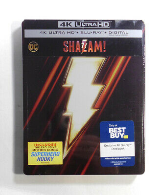 Shazam! 4K Ultra HD Best Buy Exclusive Steelbook - Factory Sealed