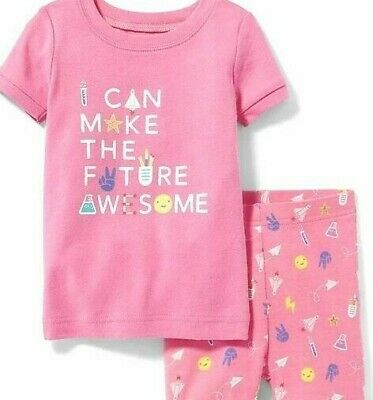NWT GIRLS OLD NAVY PAJAMAS PJS SIZE 5T 2 PIECE set Shorts Future Awesome summer