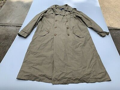 Vintage Polo Ralph Lauren Men's Rain Trench Coat Size Medium Unlined Lightw