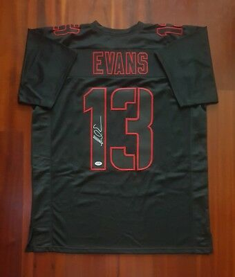 san francisco 41ac5 21935 MIKE EVANS AUTOGRAPHED Custom Framed Tampa Bay Buccaneers ...