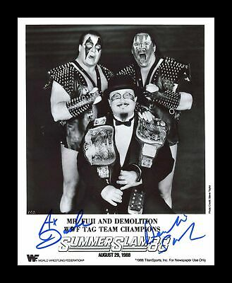 Demolition Ax & Smash Pose 3 Dual Signed 8x10 Auto Autograph WWE TNA Photo COA