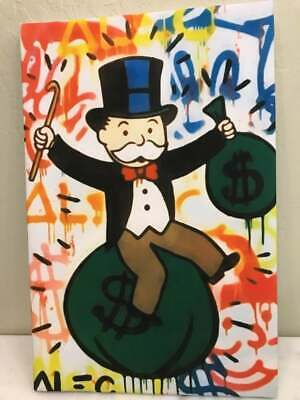 Alex Monopoly Print Reproduction, Stretched Canvas