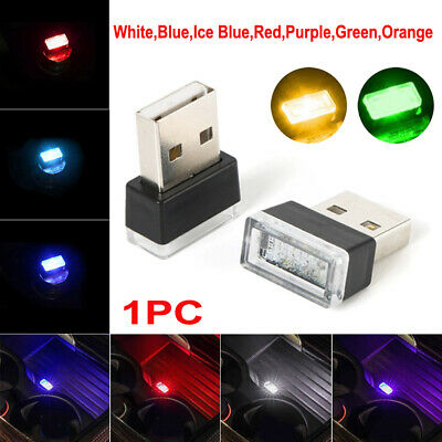 Flexible Mini USB LED Light Colorful Lamp For Car Atmosphere Lamp Accessories YX