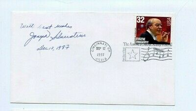 Autographed Envelope Joseph Silverstein American violinist and conductor.