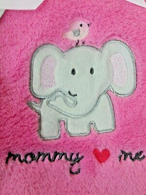 "Shower Gift PERSONALIZED Elephant /""Dream Big/"" Applique Minky Blanket 30x40"