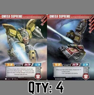 (Qty: 4)Rare Omega Supreme Autobot Transformers Trading Card Exclusive TCG X 4