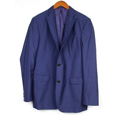 TED BAKER Endurance Size 42 L Navy Blue 2 Button Blazer Sports Jacket