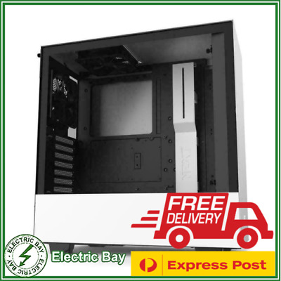 NZXT H510 Tempered Glass Mid-Tower ATX Desktop Gaming Computer PC Case White