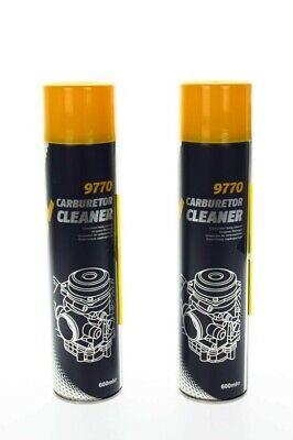 2x MANNOL 9970 Carburetor Cleaner Vergaserreiniger Reiniger Spray 600ml