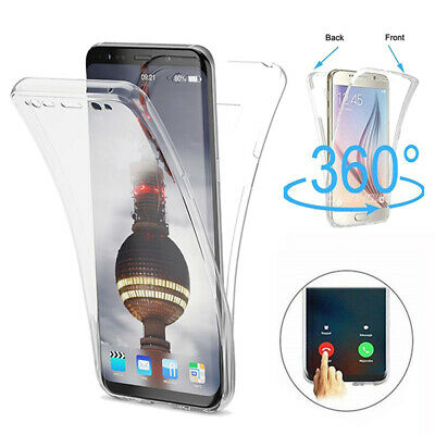Coque Housse 360 Full Silicone Tactile Pour iPhone Samsung Huawei Xiaomi LG