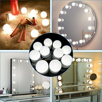 Hollywood Vanity Make up Mirror Lights Kit 10 Bulb LED Dimmable Light 3 Colors