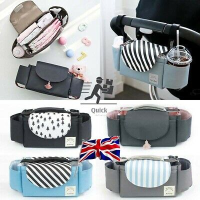 Baby Organiser Mummy Bag Storage Buggy Stroller Pram Pushchair Bottle Cup Holder