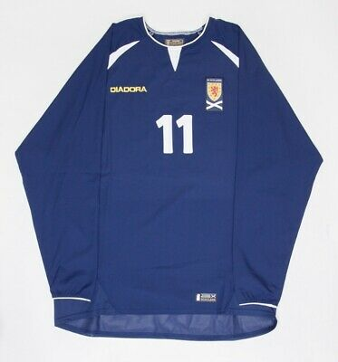 Scotland 03-05 Diadora Match Worn Issue Home Shirt #11 James McFadden