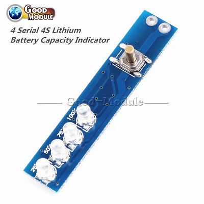 4S 4 Serial Lithium Battery Capacity Indicator Display Board For Li Ion Battery