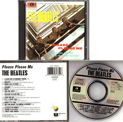 THE BEATLES. PLEASE PLEASE ME. CD ITALY EMI PARLOPHONE1963 Rare