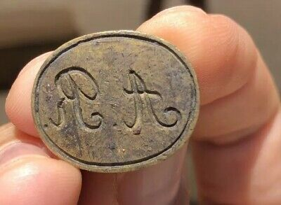 SEAL Antique BRASS PRINTING PLATE