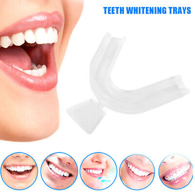 2/4pcs Teeth Whitening Kit Mouth Trays Custom Mould Thermo Plastic Guards Tray