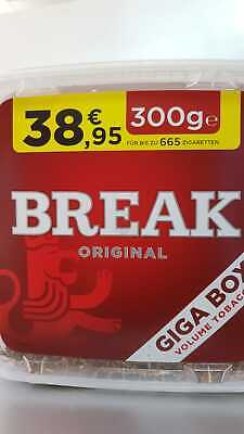 Break Volumen Tabak rot Giga Box 2X300gr+4 Elektronik  Feuerzeuge